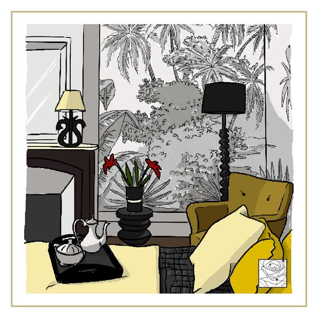 Illustration chambre jungle