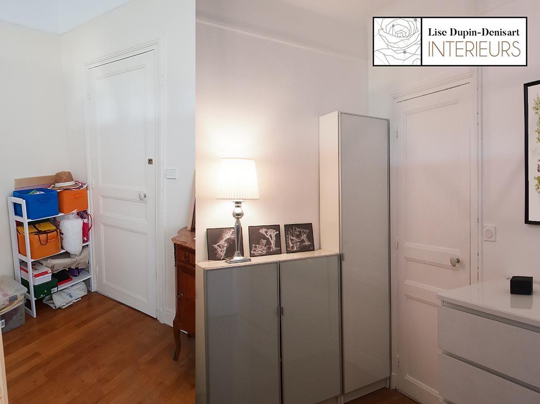 chambre rose avant après