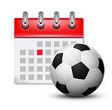 sport-calendar-and-soccer-realistic-foot