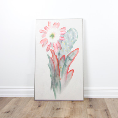 "Pink White Multi Botanical 24"" x 40"""