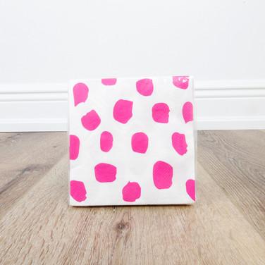 Pink Dots Beverage Napkin