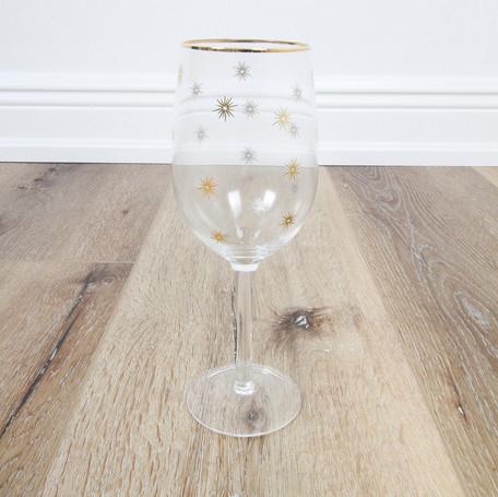 Gold Star Wineglass