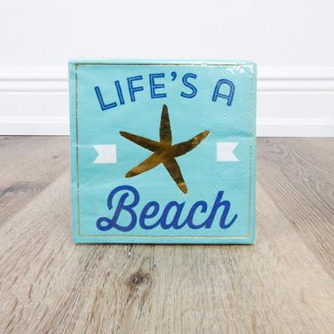 Life's A Beach Beverage Napkin