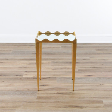 "Silvie Side Table - Gold Leaf  19"" x 26"" x 16"""