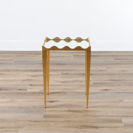 "Silvie Side Table - Gold Leaf  19"" x 26"" x 16"""