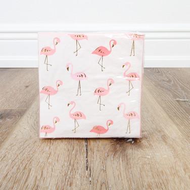 Foil Small Flamingos Beverage Napkin
