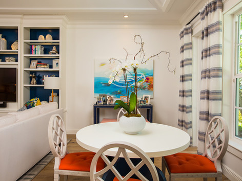 Breakfast Room by Vero Beach Interior Designer Tiffany Sweeney