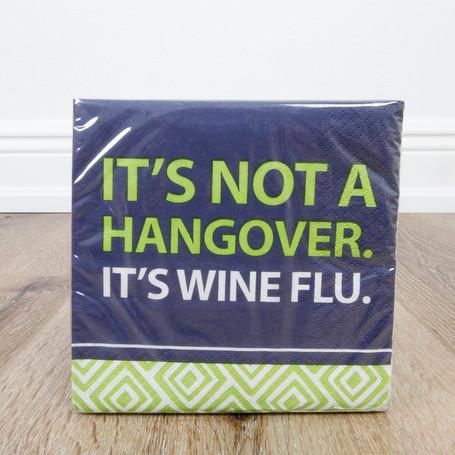 Wine Flu Beverage Napkin