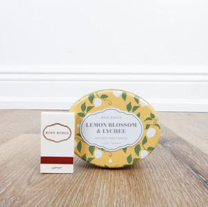 Lemon Blossom & Lychee Candle Tin