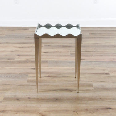 "Silvie Side Table - Silver Leaf  19"" x 26"" x 16"""