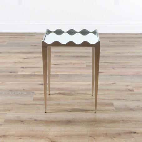"""Silvie Side Table - Silver Leaf  19"""" x 26"""" x 16"""""""
