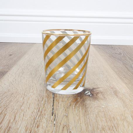 Diagonal Stripe Highball Glass