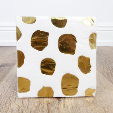 Foil Gold Dot Beverage Napkin