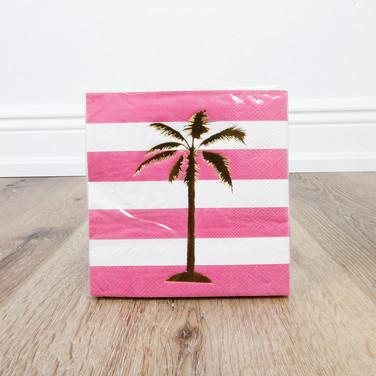 Foil Palm Tree Beverage Napkin