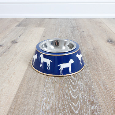 Westminster Navy Dog Bowl - Large
