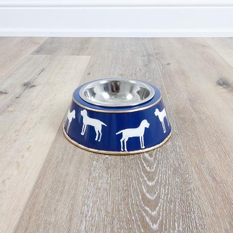 Westminster Navy Dog Bowl - Large