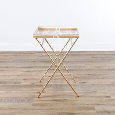 "Ming Tray Table - Taupe  22"" x 22"" x 33"""
