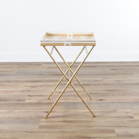 """Ming Tray Table - Taupe  22"""" x 22"""" x 33"""""""