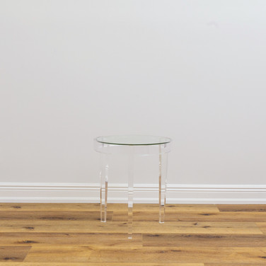 "Wanda Acrylic Accent Table  18"" x 20"""