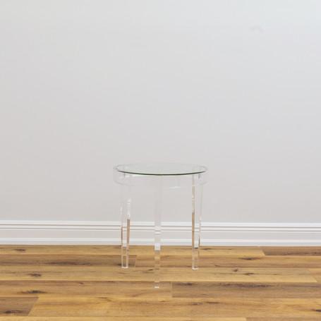 "Wanda Acrylic Accent Table  18"" x 20"""
