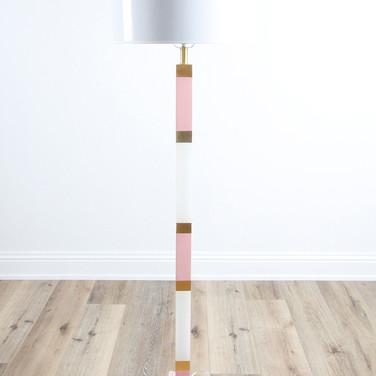 Stick Pink/Gold Floor Lamp