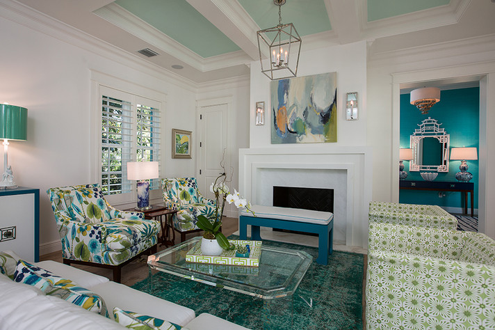 Living Room in Vero Beach by Interior Designer Tiffany Sweeney Decor Envy 04
