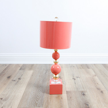 "29"" Sheridan Table Lamp - Coral"
