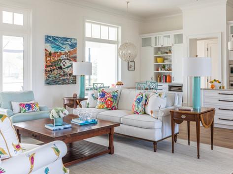 Living Room by Vero Beach Interior Designer Tiffany Sweeney