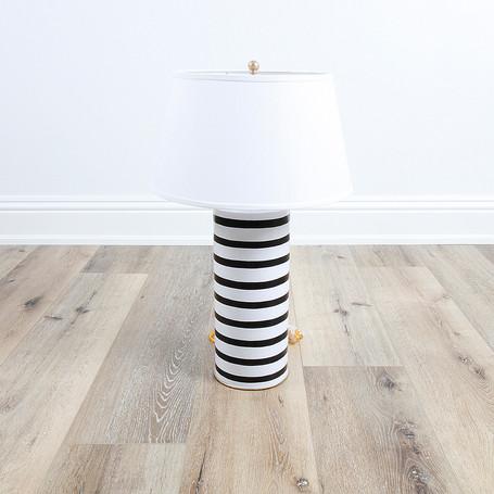 Stacked Lamp Black Pinstripe