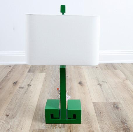 "30"" Greek Key Table Lamp - Kelly Green"