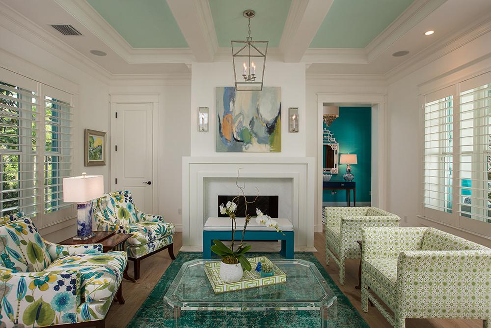 Living Room in Vero Beach by Interior Designer Tiffany Sweeney Decor Envy 05