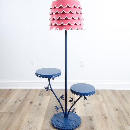 "Double Dahlia Floor Lamp  63"" x 31"" x 16"""