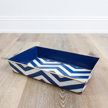 Chevron Navy Organizing Tray