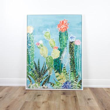 """Flowering Cactus 36"""" x 48"""""""