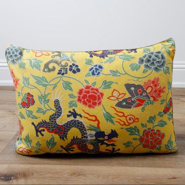 """17' x 24"""" Floral Dragons Chinois et Japonais"""