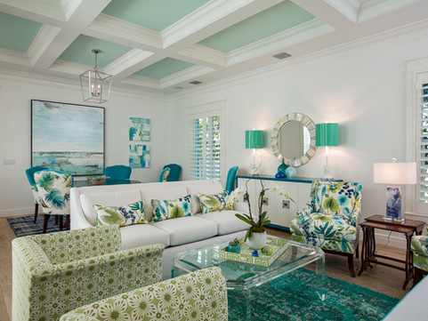 Living Room by Vero Beach Interior Designer Tiffany Sweeney