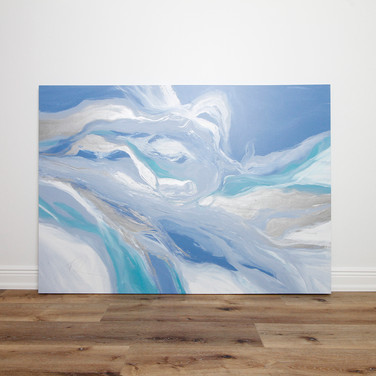 "Flowing & Shifting 45"" x 63"""