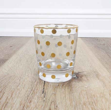 Gold Dots Highball Glass