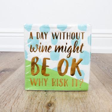 Why Risk It? Beverage Napkin