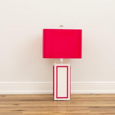 """Lagos Pink Lamp  29.5"""""""