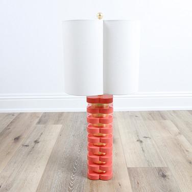 "32"" Quatrafoil Table Lamp - Coral"