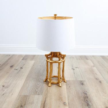 "29"" Golden Bamboo Table Lamp"