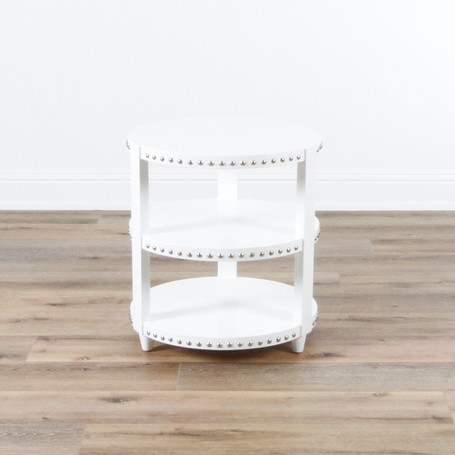 """Nora 3 Tier Side Table  26"""" x 24"""""""