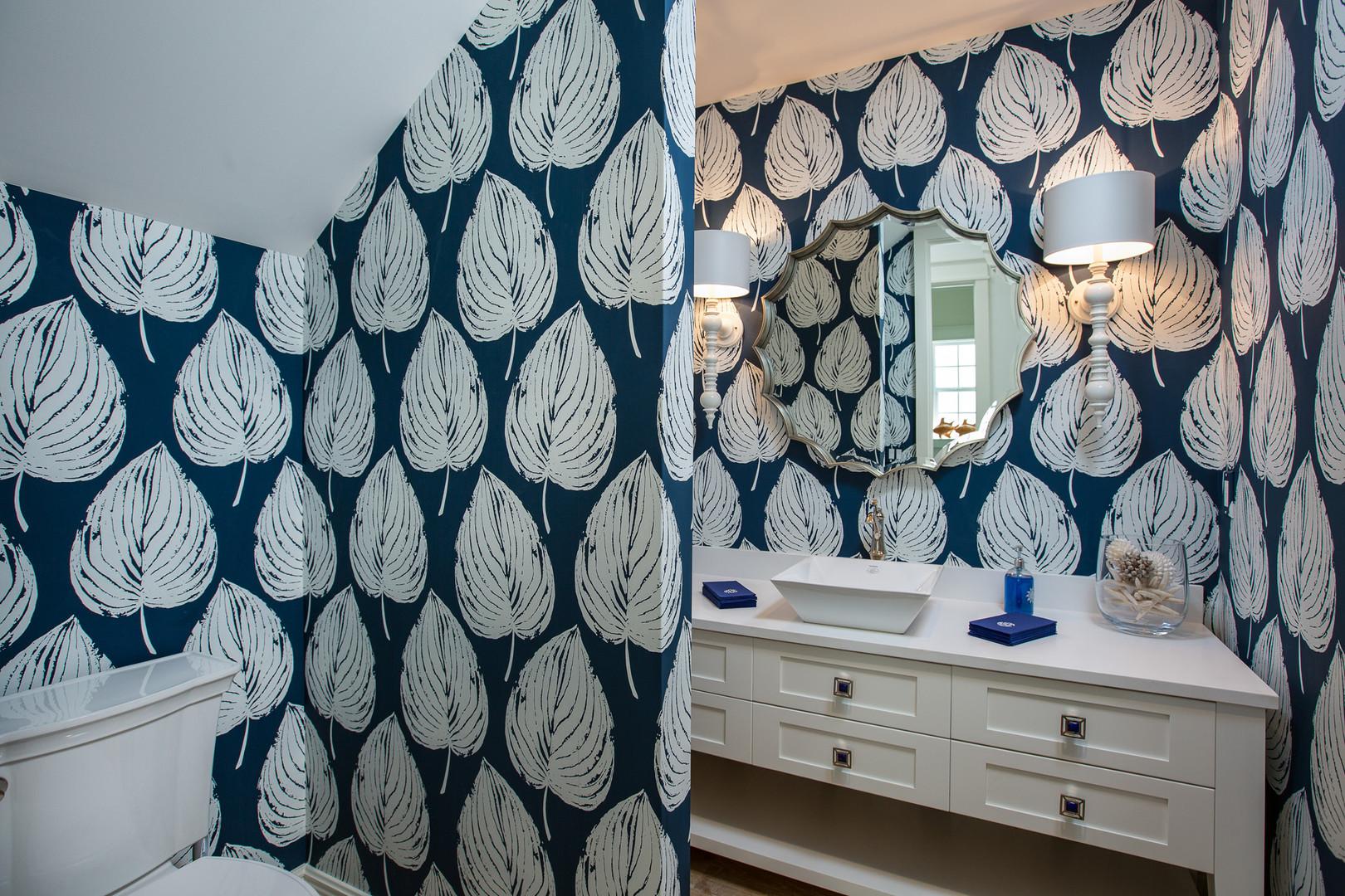 Powder Room in Vero Beach by Interior Designer Tiffany Sweeney Decor Envy 11