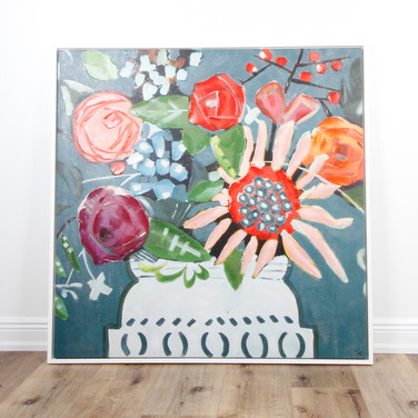 """Modern Potted Floral 48"""" x 48"""""""