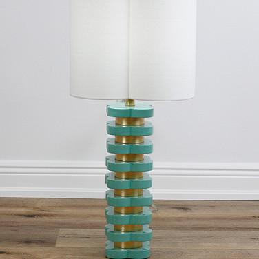 "32"" Quatrafoil Table Lamp - Mint"