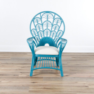 """Peacock Arm Chair - Blue Nile Clean  33"""" x 45.5"""""""
