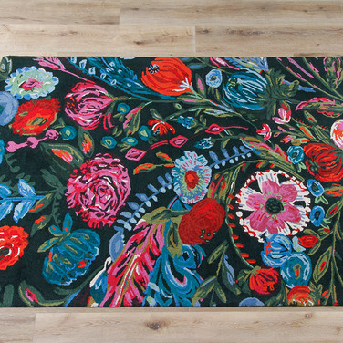 """5' x 7'6"""" Forest and Fuchsia Rug"""