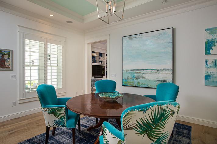 Dining Room in Vero Beach by Interior Designer Tiffany Sweeney Decor Envy 07