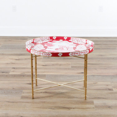 "Canton Pink Oval Occasional Table  28"" x 22"""
